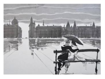 """Paysage de Paris : """"Ile de la Cité"""" - Wong Wa"""