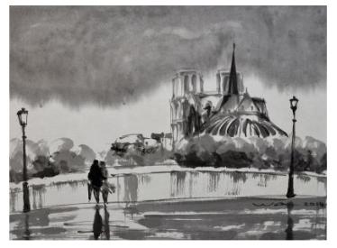"""Paysage de Paris - """"Notre-Dame"""". Wong Wa"""